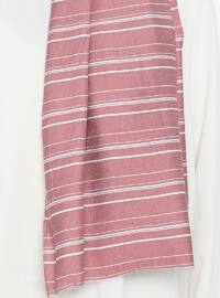 Dusty Rose - Striped - Viscose - Shawl