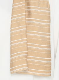 Powder - Striped - Viscose - Shawl