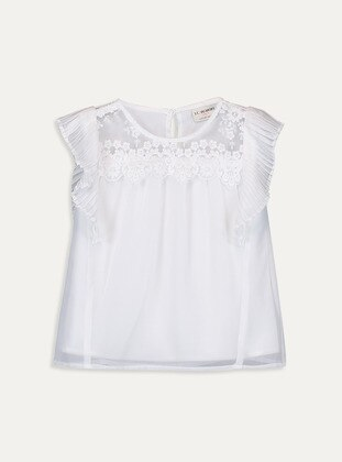White - Girls` Blouse - LC WAIKIKI