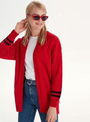 Printed - Red - Cardigan