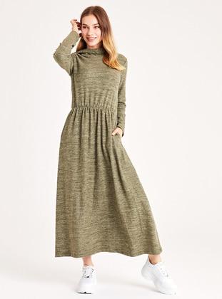 Khaki - Unlined -  - Dress