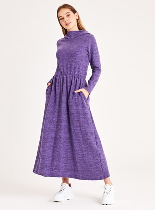 Purple - Unlined -  - Dress