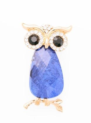Blue - Rose - Brooch