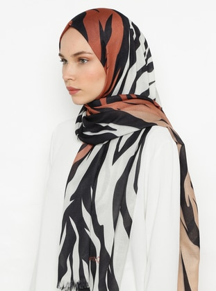 Terra Cotta - Digital Printing - Cotton -  - Shawl