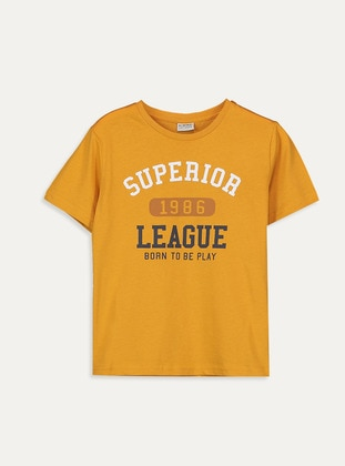 Crew neck - Orange - Boys` T-Shirt - LC WAIKIKI