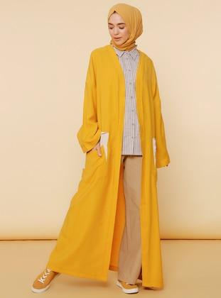 Mustard - Unlined - Viscose - Abaya