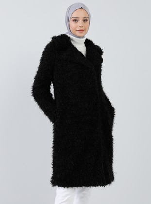 Black - Fully Lined - Shawl Collar - Coat