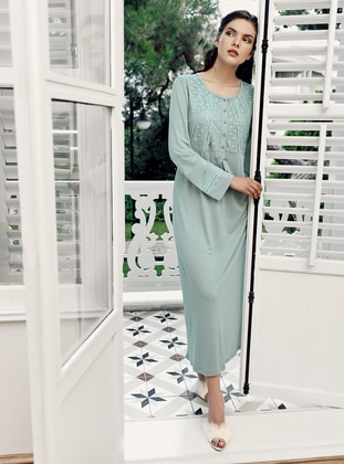 Green Almond - Crew neck -  - Viscose - Nightdress