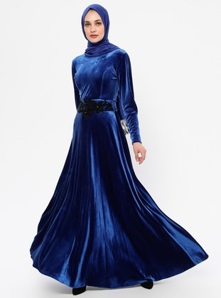 Saxe - Unlined - Crew neck - Rayon - Muslim Evening Dress