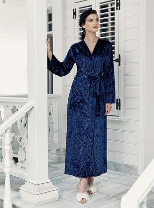 Navy Blue - Morning Robe - Artış Collection