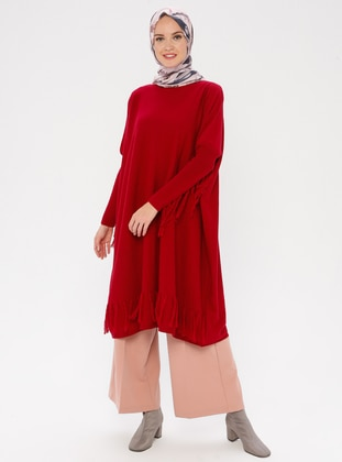 Cherry - Crew neck - Acrylic -  - Knit Tunics