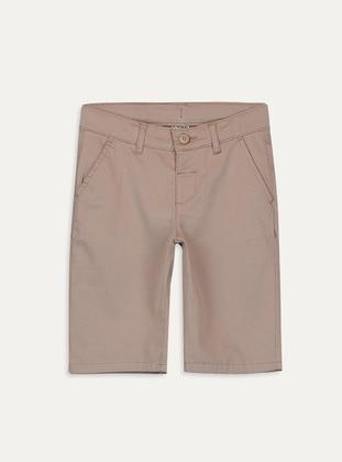 Beige - Boys` Shorts - LC WAIKIKI