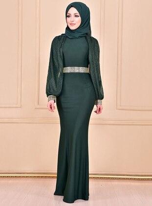 Emerald - Crew neck - Unlined - Dress