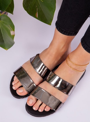 Silver - Silver - Sandal - Slippers
