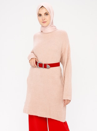 Powder - Polo neck - Acrylic -  - Wool Blend - Plus Size Jumper