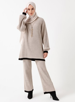 Stone - Unlined - Acrylic -  - Wool Blend - Suit