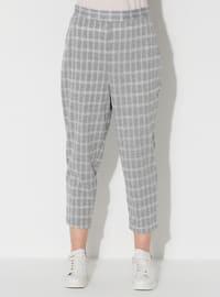 Gray - Stripe - Pants