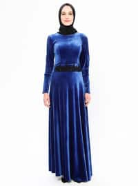 Saxe - Unlined - Crew neck - Rayon - Muslim Evening Dress