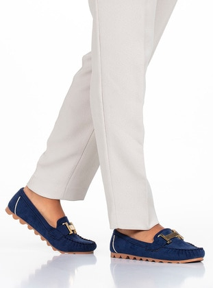 Navy Blue - Flat - Flat Shoes