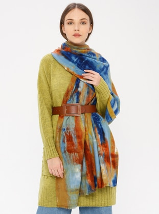 Blue - Printed - Shawl Wrap