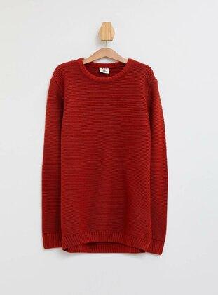 Orange - Boys` Pullover