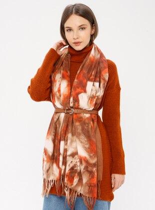 Mink - Floral - Shawl Wrap