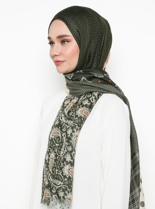 Multi - Green - Printed - Shawl