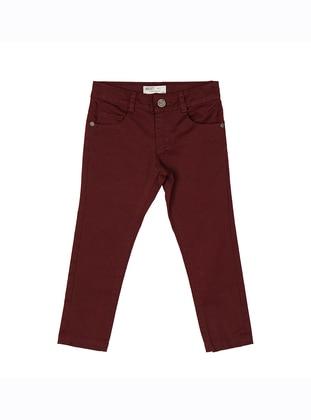 - Unlined - Maroon - Boys` Pants