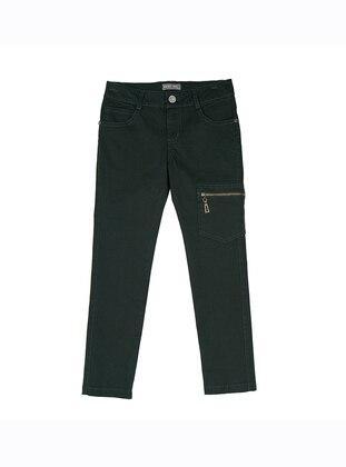 - Unlined - Green - Boys` Pants