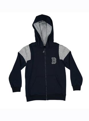 - Unlined - Navy Blue - Boys` Sweatshirt