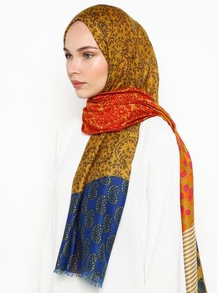 Orange - Ethnic - Shawl