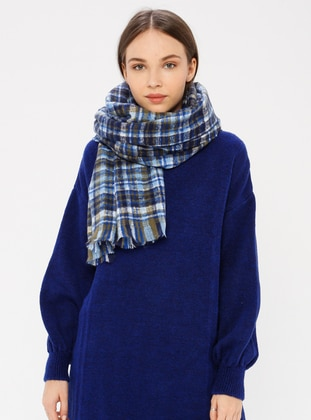 Blue - Striped - Shawl Wrap