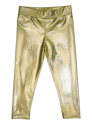 Unlined - Gold - Girls` Leggings