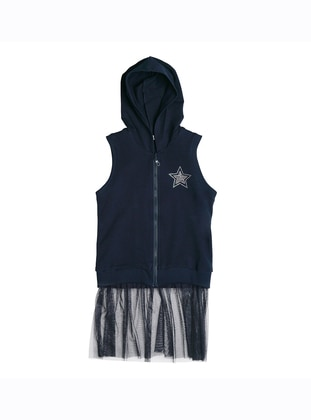 - Unlined - Navy Blue - Girls` Vest