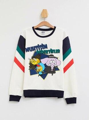 Ecru - Boys` Sweatshirt - DeFacto