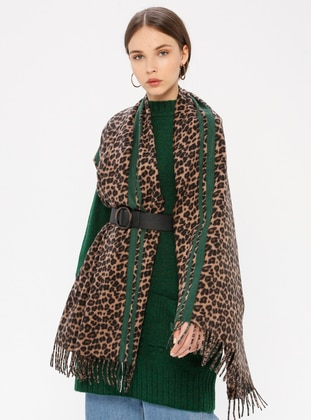 Green - Leopard - Shawl Wrap