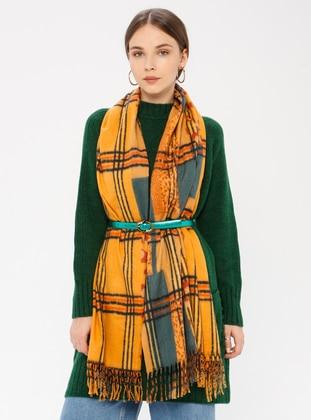 Yellow - Printed - Shawl Wrap