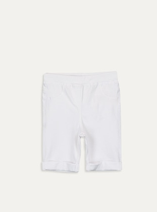 White - Girls` Shorts - LC WAIKIKI
