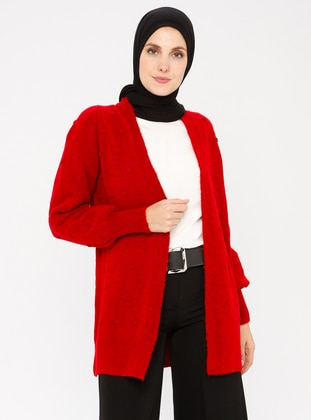 Red - Acrylic - Cardigan