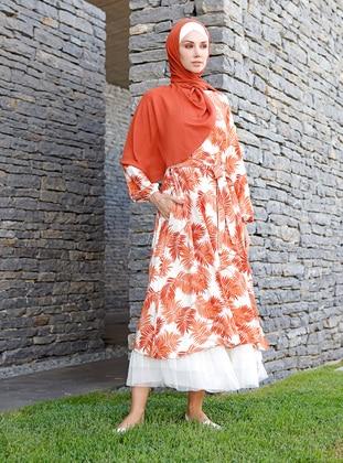 Terra Cotta - Multi - Unlined - Viscose - Dress