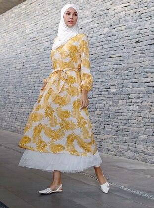 Yellow - Multi - Unlined - Viscose - Dress