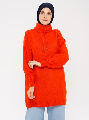 Coral - Polo neck - Acrylic -  - Wool Blend - Jumper