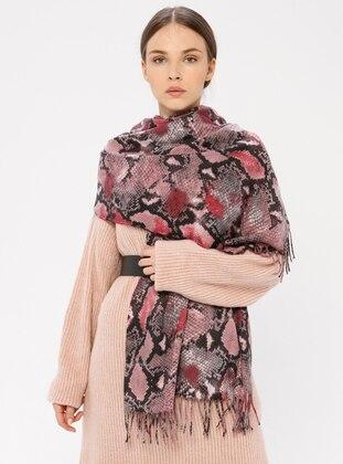 Pink - Printed - Shawl Wrap