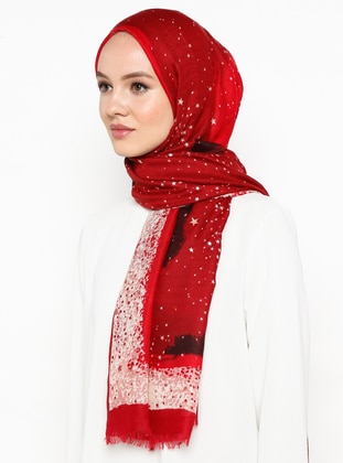 Red - Ethnic - Shawl