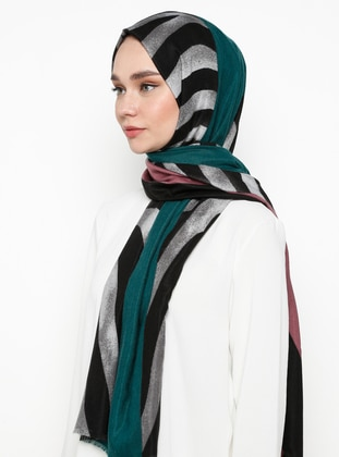 Multi - Black - Printed - Shawl Wrap