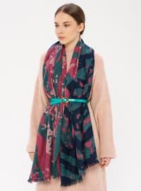 Green - Printed - Shawl Wrap