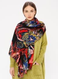 Black - Floral - Shawl Wrap