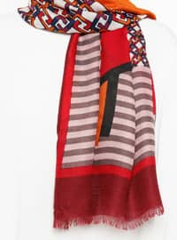 Red - Ethnic - Shawl
