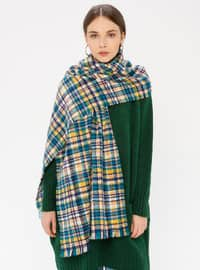 Green - Striped - Shawl Wrap