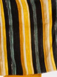 Yellow - Striped - Shawl Wrap